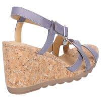 Hush Puppies Pekingese Strappy Shoe Ladies Summer Blue